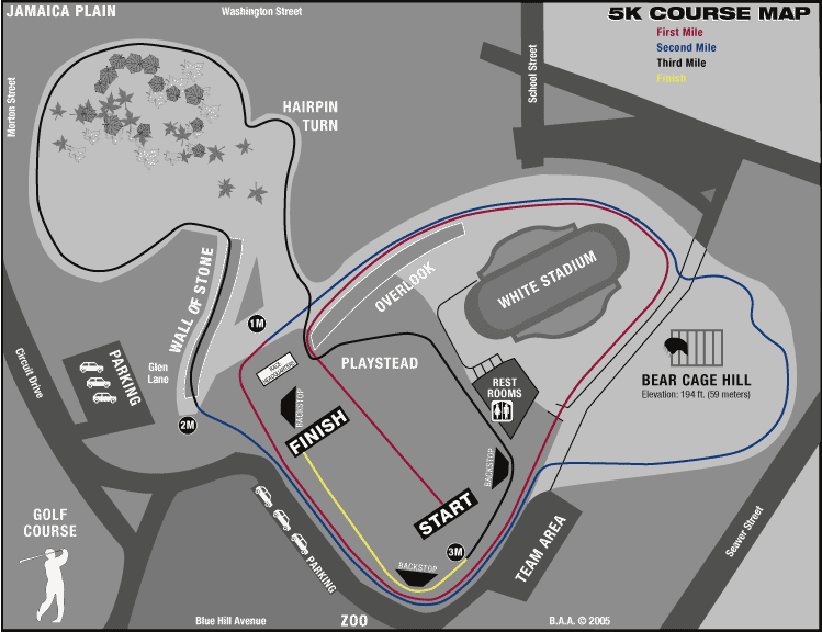USATFNE Cross Country - Us track and field map my run