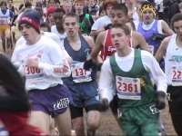 Mark Fraser, #137, broke out of the crowd to finish 22nd in the Youth Boys race. Photo courtesy of Nashua PAL