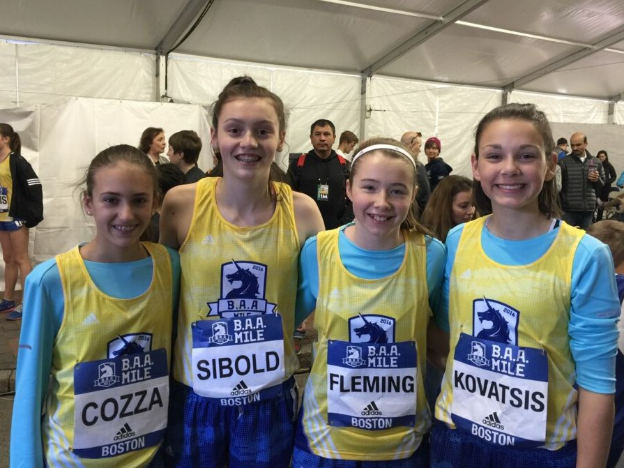 Four members of the Wellesley Youth Track   Field Club were part of the  B.A.A. Middle 8d81acc6c