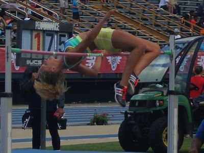 Emma Fitzgerald in the heptathlon