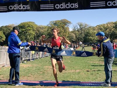 Jim Spisak (NEDistance) led the men's race home in 23:37. (Photo courtesy of the B.A.A.)