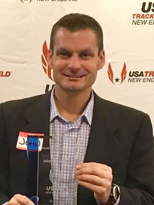 John Mortimer, USATF-NE Race Director of the Year <Photo: Jennifer Mortimer>